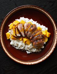 Juniper-Rubbed Duck Breast with Delicate Squash